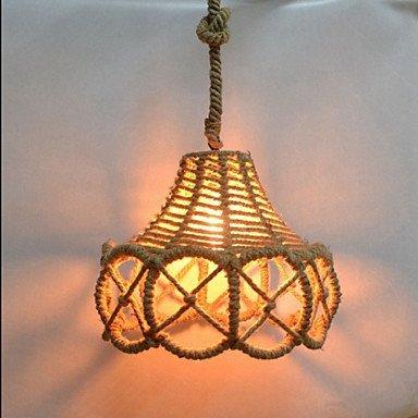 - DENG Modern Chandeliers Ceiling Lights Pendant United States Country Vintage Iron Chandelier Industrial Hemp 3C ce Fcc Rohs for Living Room Bedroom, 220-240v
