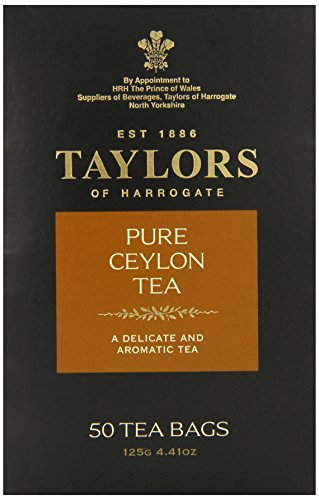 Taylors of Harrogate Pure Ceylon Tea, 50 Count Tea Bags - Ceylon Breakfast