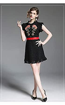 YnD Casual A Line Dress For Women-Black Color