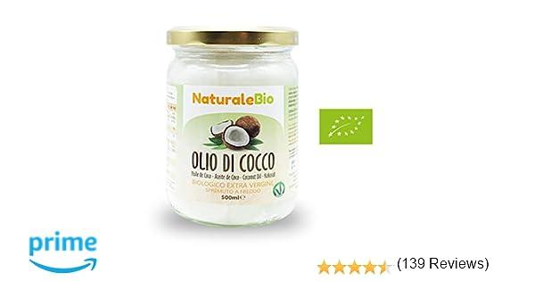 Aceite de coco extra virgen 500 ml - Crudo y prensado en frío - Puro y 100% biológico - Ideal para cabello, cuerpo y para uso alimentario - Aceite bio ...