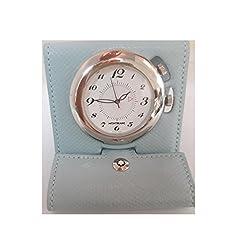 Montblanc Boheme Blue Leather Travel Alarm Quartz Desk Clock 2266A