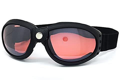 O2 Eyewear 101 RETRO VINTAGE ELIMINATOR AVIATOR MOTORCYCLE ATV DIRT BIKE OFF ROAD MX DUST PROOF PADDED GOGGLES (GOGGLES, - Mens Off Road Motorcycle