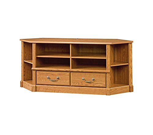 Sаudеr Orchard Hills Corner Entertain Credenza, Carolina Oak Finish