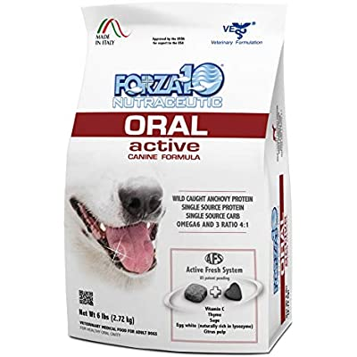 Forza10 Active Oral Care Dog Food, Single Source Protein Dry Dog Food for Dental Health and Dog Breath, 6 Pound Bag