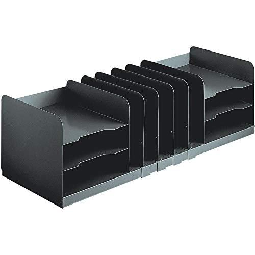 - 636643 MMF, MMF26420HVHABLA, Jumbo Horizontal/Vertical Desktop Organizer, 1 Each, Black