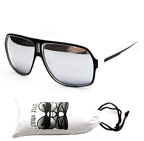 A141-vp Style Vault Turbo Sunglasses (07 mt black/white-silver, mirrored)