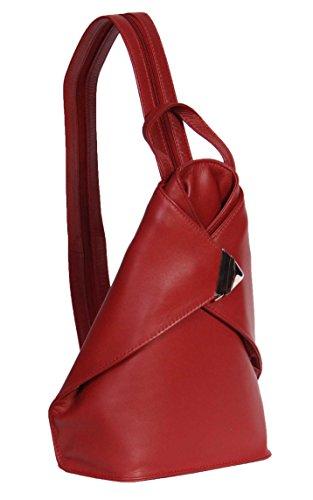 Leather Red Luxury Rucksack NEW Organiser Sports Hiking Bag Womens Backpack A59 517qSI1w