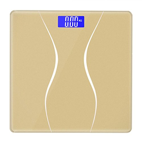 Digital Scale,LtrottedJ New 180KG Electronic LCD Digital Bathroom Body Weight Scale With Battery (Gold) by LtrottedJ