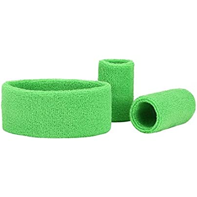 Unisex Sweatband Set Athletic Cotton Headband and Wristband Sports Headband and Wristbands Estimated Price £7.81 -