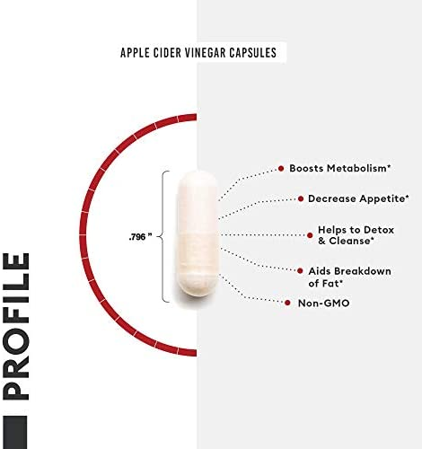 Apple Cider Vinegar Capsules for Weight Loss Support (Award Winning Capsimax Formula), Fat Burners for Women & Men, Promotes Appetite Management, Metabolism Booster, Organic, Non-GMO, 60 Pills 5