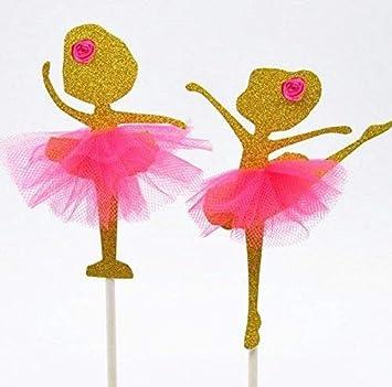 2 Disenos Dorado Tutu De Bailarina De Ballet Dancer Cup Cake