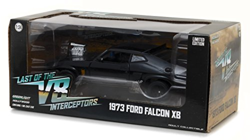 Greenlight 1:24 Last of the V8 Interceptors (1979) -1973 Ford Falcon XB (84051) Die-Cast Vehicle, Black by Greenlight (Image #3)