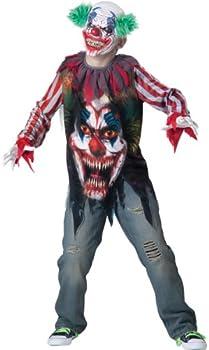 Scary Clown Costume Kids Halloween Fancy Dress