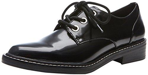 Negro Para De Cordones Little Mujer Madden 001 Steve Zapatos Brogue black qwfB87