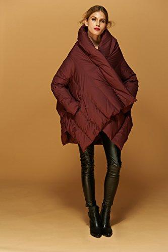 invernale invernale invernale Giacca vento donna imbottitura Rosso a Giacca Giacca Giacca Giacca da da in donna con Jsix piumino HvzEwqn