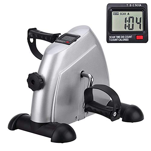 Mini Exercise Bike Portable Home Pedal Exerciser Gym Fitness Leg Arm Cardio Training Adjustable Resistance LCD Display Women Men