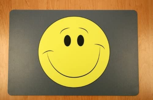 Schreibtischunterlage Smiley gross 40 x 60 cm PVC abwischbar