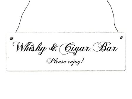 Diseño decorativo puerta Holzschild WHISKY y CIGAR BAR boda ...