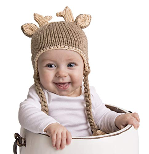 Huggalugs Boys Baby or Todder Buck Knit Beanie Hat S]()