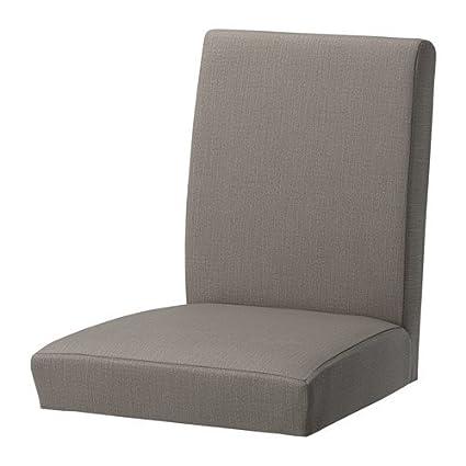 amazon com ikea henriksdal chair cover 21 nolhaga gray beige
