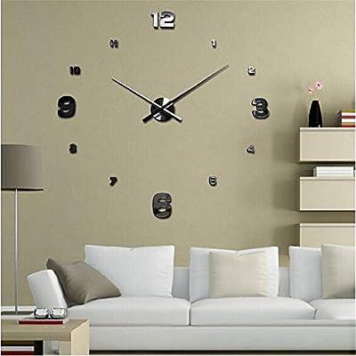 Zyueer Horloge Murale Geante 3d Diy Design Moderne Pendule Murale
