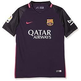 Nike 2016-2017 Barcelona Away Football Soccer T-Shirt Maillot (Kids) - with Sponsor