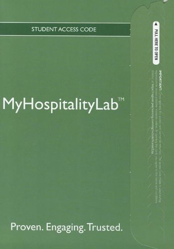 2012 MyHospitalityLab without Pearson eText -- Access Card
