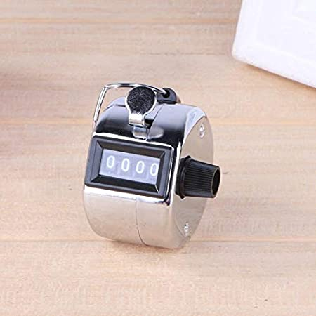 Counters - 4 Digital Hand Tally Counter Manual Counting Golf Clicker Metal Click Training E Ch - Digit Hand Golf Metal Manual Tensiometro Accessories Chime ...