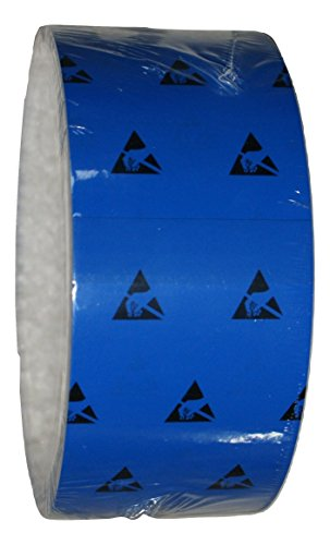 Esd Floor (UltraTape Anti-Static Vinyl Tape | ESD Protection | Cleanroom Floor Marking Tape | 2265 Non-Residue Adhesive Roll | Solvent Resistant | 1 Roll | 2 Inch | Blue | 2265BU200-P3D_FBA)