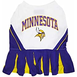 Minnesota Vikings NFL Cheerleader Dress For Dogs - Size Medium