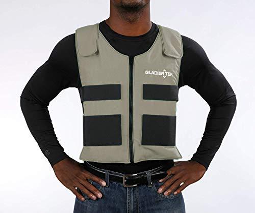 Glacier Tek Sports Cool Vest with Set of 8 Nontoxic