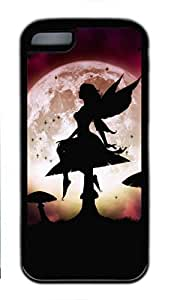 Soft Case Shell for ipod touch 5 ipod touch 5 Covered with Fairy under Moonlight,Customized Black TPU Cover Skin for ipod touch 5 ipod touch 5