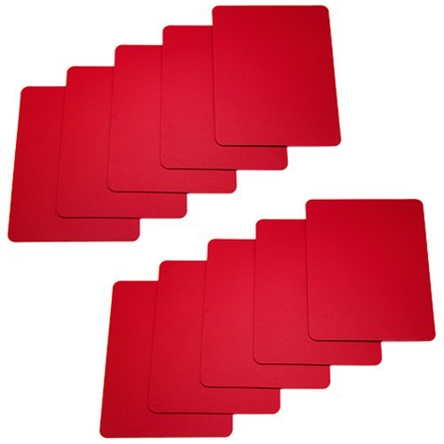 (Brybelly Set of 10 Red Plastic Poker Size Cut Cards)