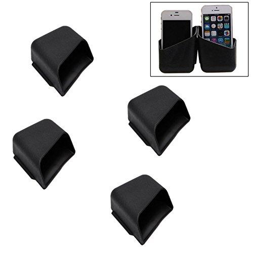 (SunTrade Stick-on Organizer Box for Car,Mini Plastic Car Auto Coin/Sun Glasses Card Holder Storage, 4 Pack)