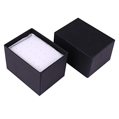 (Longay Delicate Paper Cardboard Bangle Bracelet Wrist Watch Jewelry Present Gift Box (Black))