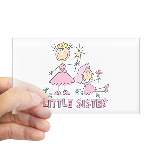 Stick Princess Duo - CafePress Stick Princess Duo Little Sister Sticker (Rectangl Rectangle Bumper Sticker Car Decal