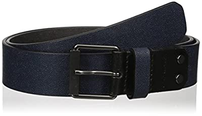 Calvin Klein Men's 38mm Stingray Embossed Leather with Contrast Tab Belt