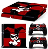 MightyStickers - Harley Quinn Joker Lady PS4 Wrap Skin Game Console + 2 Controller Decal Vinyl Protective Covers Stickers Sony PlayStation 4