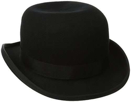 Scala Classico Men's Wool Felt Bowler Hat, Black, Medium (Bowler Hat)
