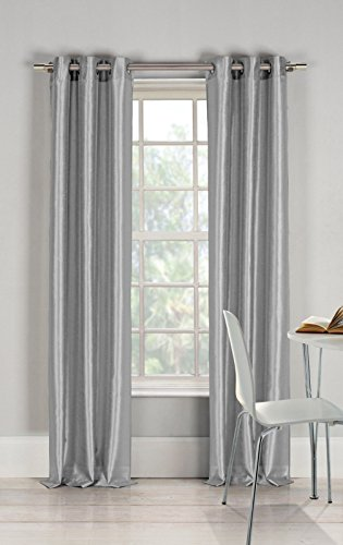 - Gorgeous Home 1 Faux Silk Window Curtain Panel 55