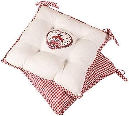 Dibor - Cojines de algodón con Lazos para el Asiento, diseño de ...