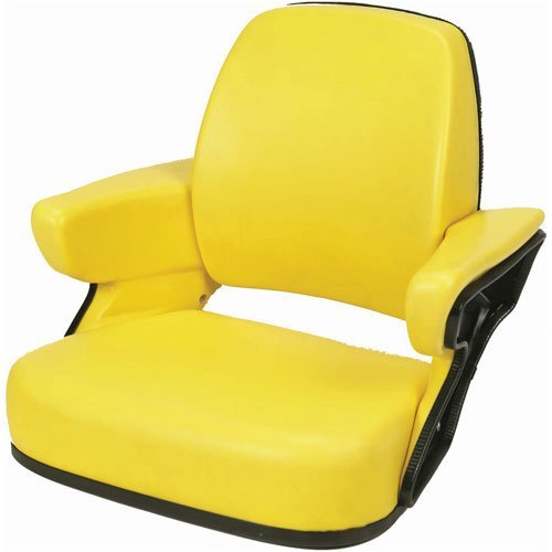 Seat Assembly Vinyl Yellow John Deere 4640 7400 4755 2955 4450 7710 7800 7410 4960 4250 4650 4040 4430 4255 4055 4955 4440 4850 4760 4560 4455 7210 7610 3150 7810 7600 4840 7200 4555 4050 4240 7700 by All States Ag Parts