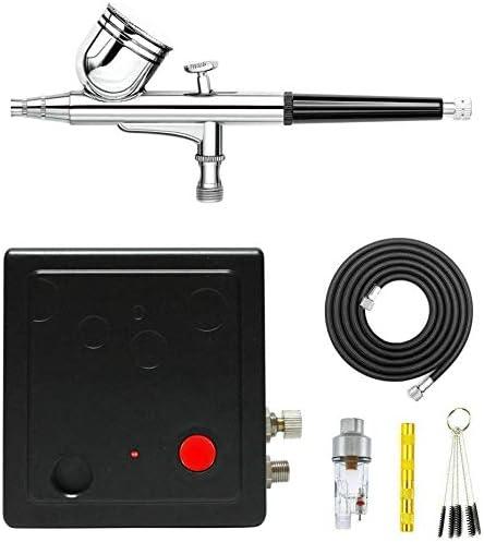 Abest - Aerógrafo compresor de doble acción de alta calidad. Juego completo. Herramienta de pulverización para manualidades tool-2