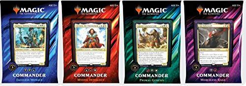 MTG Magic The Gathering 2019 Commander Set - All 4 Decks best to buy