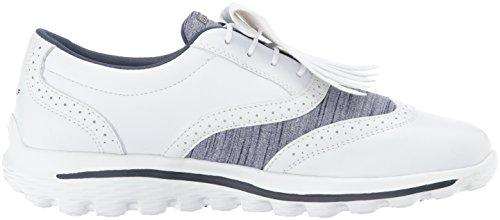 Skechers Performance Donna Andare Golf Kiltie 2.0 Scarpa Da Golf Bianco / Blu Marino