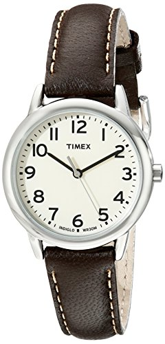 (Timex Women's South Street | Leather Band Cream Dial | Casual Watch TW2P59500)