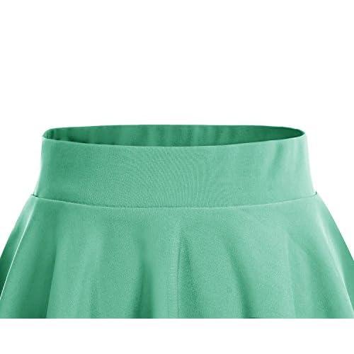 new Dresstells®Falda Mujer Mini Corto Elástica Plisada Básica Multifuncional f4ef8447c91e