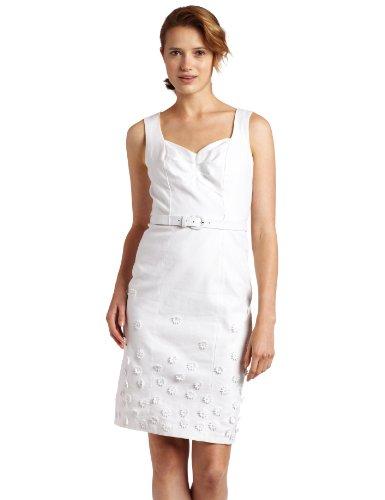 Jax Women's Embellished Hem Detail Linen Dress