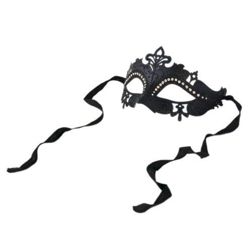 Plus Half Mask (Premium Venetian Mardi Gras Masquerade Costume Half Mask,)