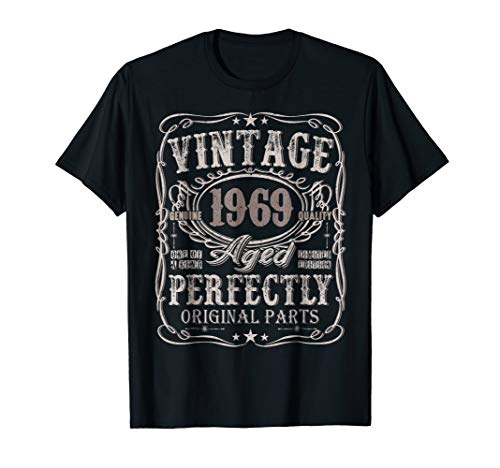 50 Years Old 1969 Vintage 50th Birthday T Shirt Decorations